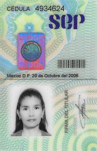 Cedula Gabriela Penagos-Podólogos-Certificados