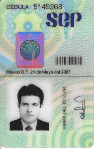 Cedula Raul Hernández-Podólogos-Certificados