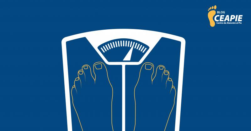 Sobrepeso y el cuidado de los pies